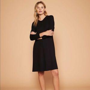 Lou & Grey Black Signaturesoft Knit Swing Dress